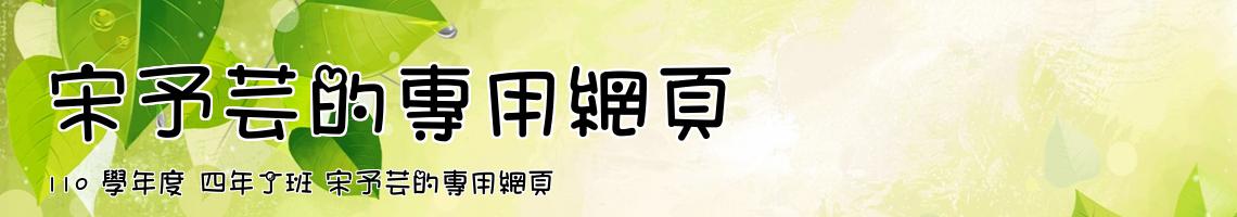Web Title:110 學年度 四年丁班 宋予芸的專用網頁